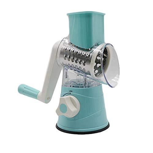 Rallador de queso, rallador de tambor rotativo, rallador manual de tambor de corte rápido, ideal como rallador de patatas, rallador de verduras, molinillo de queso para patatas y calabacín