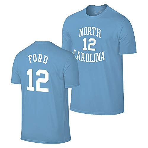 Elite Fan Shop Phil Ford Retro North Carolina Tar Heels Basketball Jersey Tshirt - X-Large - Phil Ford Blue
