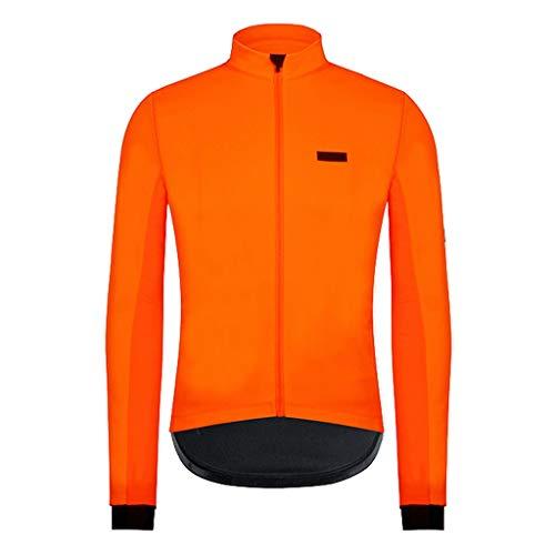 Xinxinchaoshi Veste vélo Hommes Coupe Cycle Wear Veste Coupe-Vent et imperméable Cycling (Orange) Maillot de Corps de Cyclisme (Taille : XL)