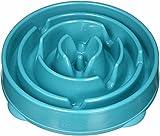 Outward Hound Fun Feeder Slo-Bowl - Comedero con obstáculos para perros - Turquesa - Grande/normal