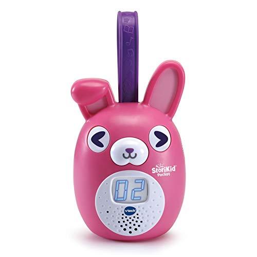 VTech StoriKid Pocket, cuentacuentos portátil para acompañar al bebé en Cualquier Lugar, Juguete +6 Meses, Graba Tus Propios Cuentos, Temporizador, Versión ESP, Color Rosa (3480-613757)