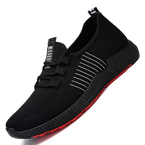 Leobtain Tennis Schuhe Herren Turnschuhe Athletisch Laufen Outdoor Wandern Atmungsaktiv Strick Sportschuhe Walking Gym Sneaker