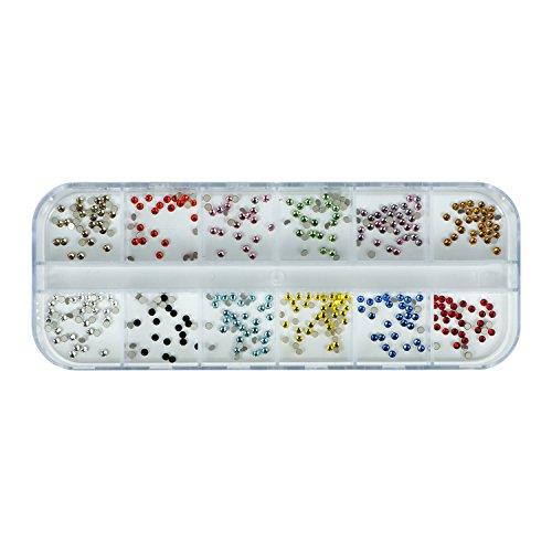 Strass Diamonds de couleur 360 pièces de pierres de strass avec décoration en cristal Rhinestones Nail Art