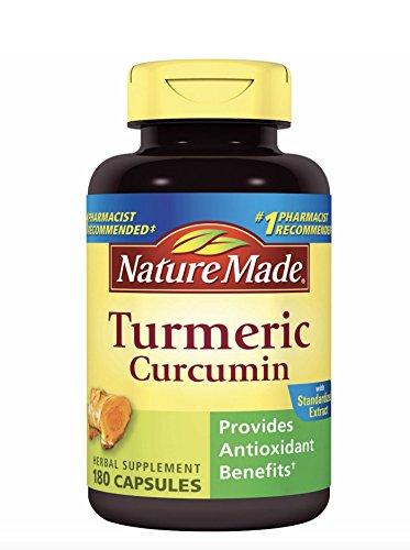 Nature Made Turmeric Curcumin 500 milligram. Capsules (Antioxidant) Value Size 180 Ct