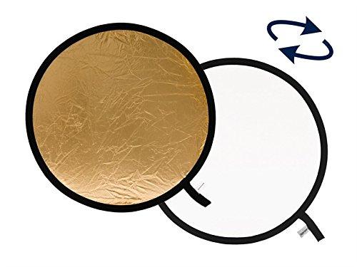 Lastolite LLLR2041 - Reflector de 50 cm, Oro/Blanco