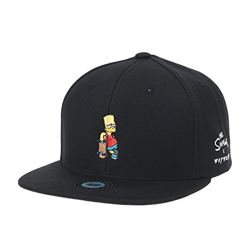 WITHMOONS Baseballmütze Mützen Caps Kappe The Simpsons Cap Bart Simpson Skateboard Snapback Hat HL2964 (Black)