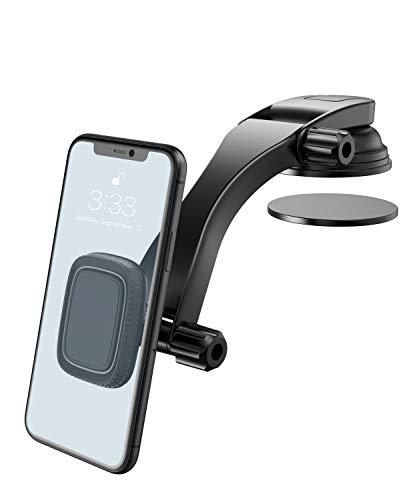 Miracase Porta Telefono Auto, Supporto Magnetico per Smartphone Auto 360 Gradi di Rotazione Cruscotto Supporto Telefono Auto Universale per iPhone SE 2020/11/XR, Samsung, Huawei e GPS Dispositivi