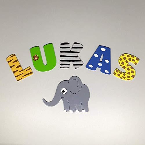 Tolle Holzbuchstaben für Kinderzimmer-Tür, Safari