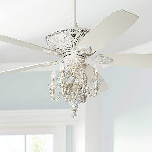 60' Montego Chic Ceiling Fan with Light LED Dimmable Crystal...