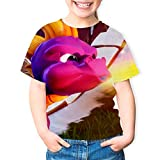 BEKAI SP-yro The Dragon Fire 3D Graphic Boys/Girls T-Shirts,Pullover Kids Tees White