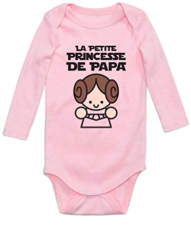 Green Turtle Cadeau Père Fille - Princesse De Papa Body Bébé Manche Longue Newborn Rose