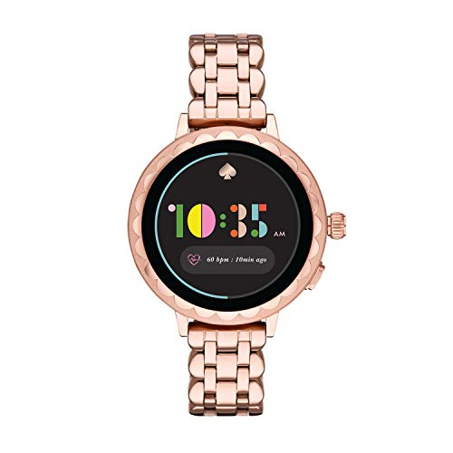 kate spade new york Women's Scallop 2 Touchscreen smartwatch Watch with Stainless Steel Strap, Rose Gold, 16 (Model: KST2010)