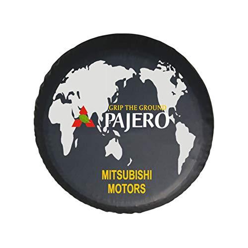 Cubierta para Rueda de Repuesto de Adecuado para 4WD Mitsubishi Motors Montero LTD Raider Pajero 14'-17'. Funda Protectora para Rueda de Repuesto de PVC, Cubierta del neumático de Repuesto,No 3,15''