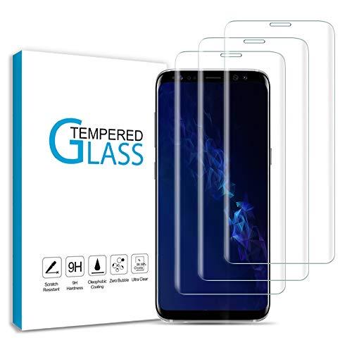 Wsky Panzerglas für Samsung Galaxy S9, HD Schutzfolie, 9H Härte Displayfolie, Anti-Kratz, Keine Luftblasen Displayschutz Folie für Samsung S9 [3 Stück]