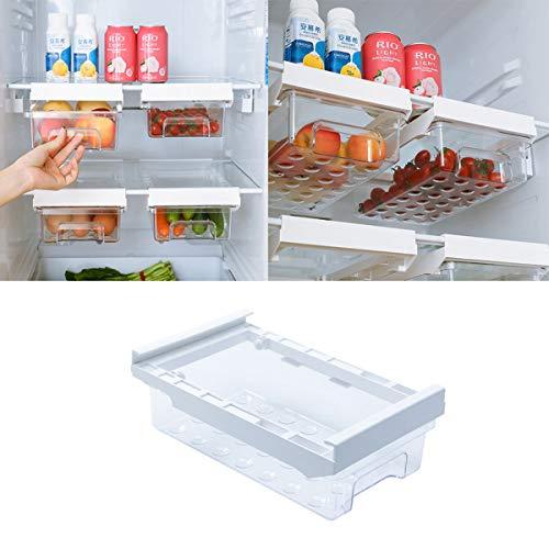 LABABE Refrigerador Cajón Organizador, Caja de almacenamiento para nevera, cajones de diseño único con cajón extraíble para nevera, soporte para el hogar, organizador para verduras y frutas y huevos