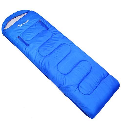Sportneer Sleeping Bag Portable Winter Single Sleeping Bag with Zippered Holes for Arms and Feet, 20°F