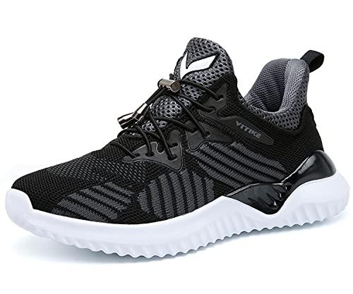 Zapatillas de Deporte para de Las Muchachas de Los Muchachos Aire Zapatos para niño Casual Unisex Niños(A-Negro,37 EU)