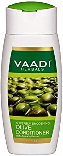 Silky Smooth Conditioner - Olive Oil Conditioner with Avocado Extract - Herbal Conditioner - Sulfate Free - Scalp Therapy - Moisture Therapy - ALL Natural - 350 Ml - 12.31oz - Vaadi Herbals
