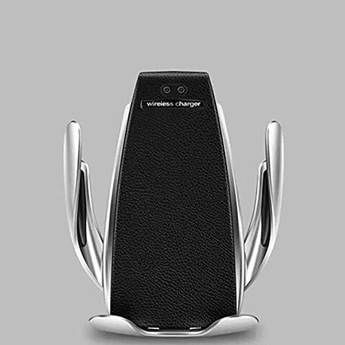 FGVBC Cargador de Coche inalámbrico Qi, ventilación de Aire de sujeción automática + Soporte de succión para teléfono Soporte de Montaje de Carga para iPhone Samsung Huawei Android
