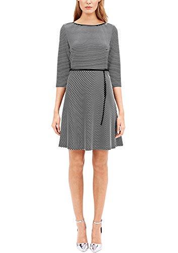 s.Oliver BLACK LABEL Damen 11701826286 Kleid, Schwarz (Grey/Black Structured STR 99H1), 44