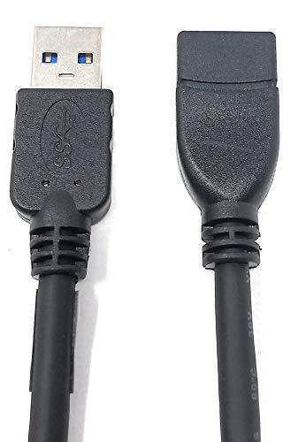 System-S USB 3.0 Typ A (male) auf USB 3.0 Typ A (female) Kabel Verlängerungskabel 30 cm
