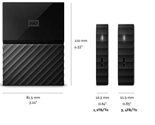 Disque dur externe USB My Passport de Western Digital, 1 To, USB 3.0-WDBYNN0010BBK-WESN, noir - 3