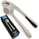 Premium Garlic Press with Soft Easy-Squeeze Ergonomic Handle, Sturdy Design Extracts More Garlic...