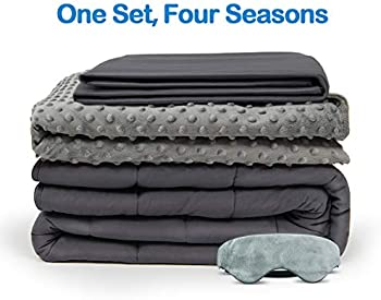 4-Piece BUZIO Weighted Blanket With 2 Removable Duvet Covers