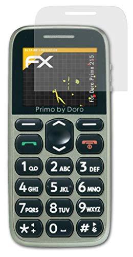 atFolix Panzerfolie kompatibel mit Doro Primo 215 Schutzfolie, entspiegelnde & stoßdämpfende FX Folie (3X)