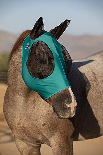 Fly Mask Web Trim, Beschermt Paarden Gezicht en Ogen tegen Bijtende Insecten en UV-stralen terwijl het toestaan van volledige zichtbaarheid, oren en voorhuid in staat om te komen door het masker, Groen, COB