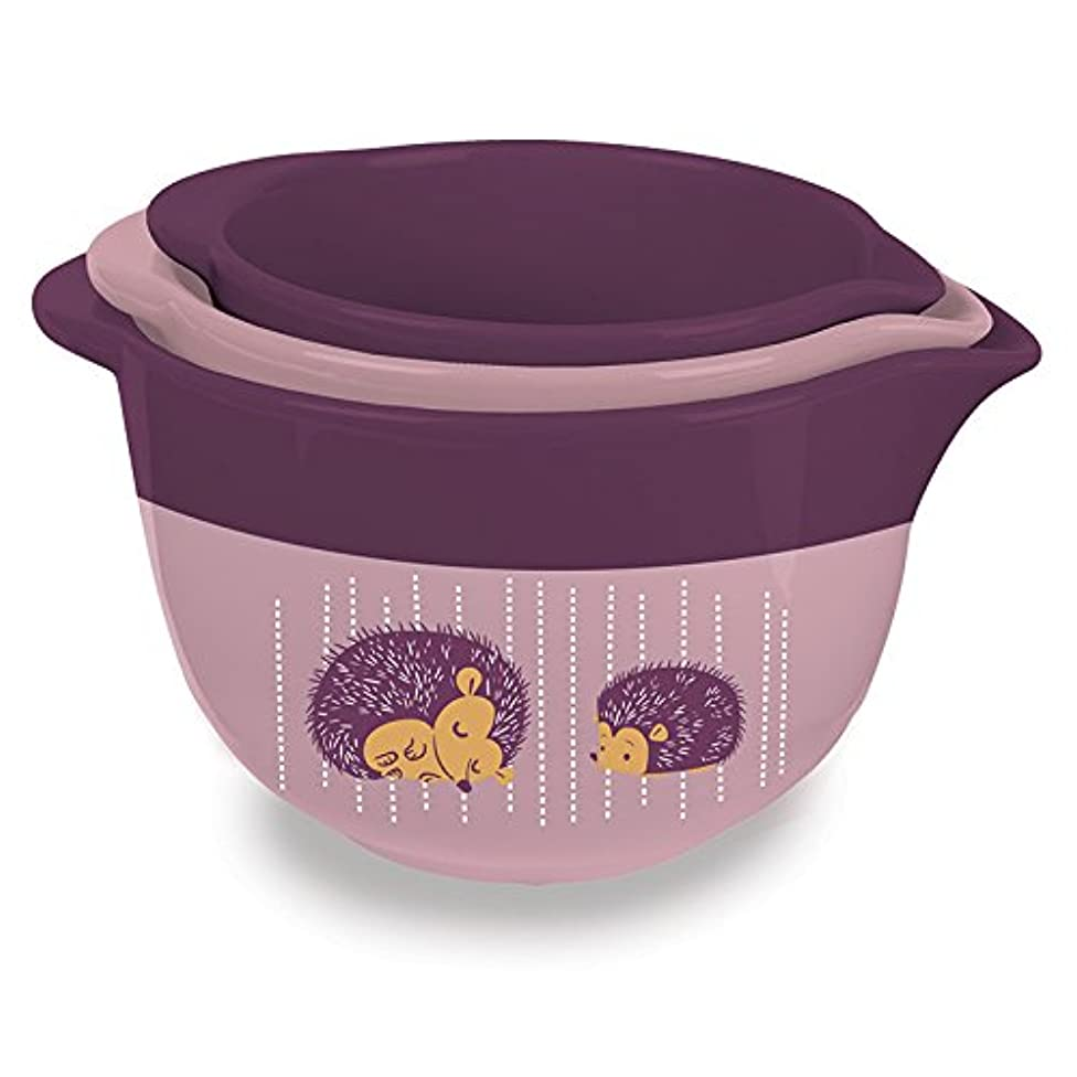 Kitsch'n Glam Ceramic 3-Piece Themed Mixing Bowl Set (Hedgehog Theme)