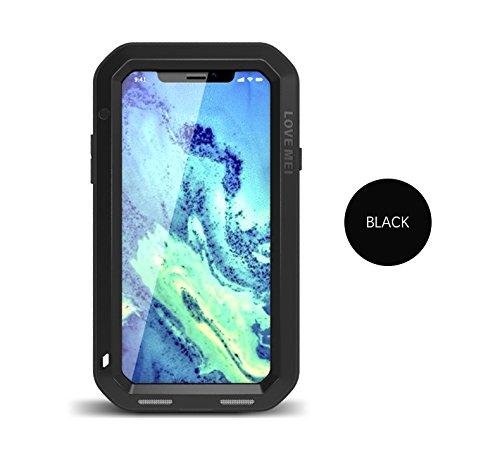 Funda para iPhone X, Love Mei, a Prueba de Golpes, Polvo, Nieve, Aluminio Gorilla Glass, Cubierta Resistente para Apple iPhone X (5.9 Pulgadas)