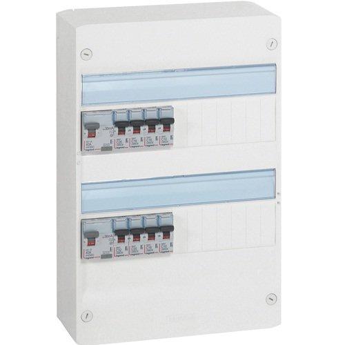 Legrand LEG93009 Tableau pré-équipé 2 rangées pour neuf ou rénovation inférieur à 35 m2