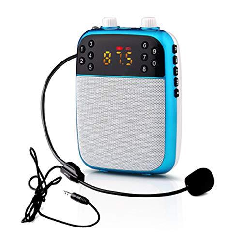 Amplificador portatil con 2000 mAh batería de Litio con un microfono para guías Maestros Profesores Artistas animadores promotores de Ventas, etc