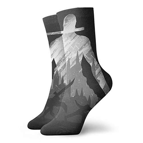 Pirate Hunter Calcetines deportivos unisex, poliéster,Grueso,Comfort Cool ligeramente acolchado Crew Sock