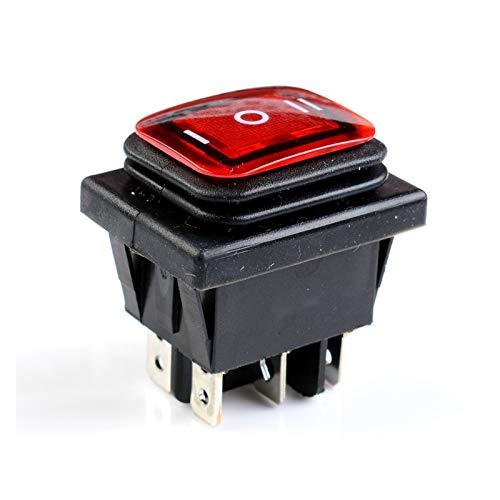 QHMDZ Interruptor basculante 1pcs 3 Posición LED encendió 6 Pines Boat Boat Rocker Switch On-On-On DPDT 16A 250V