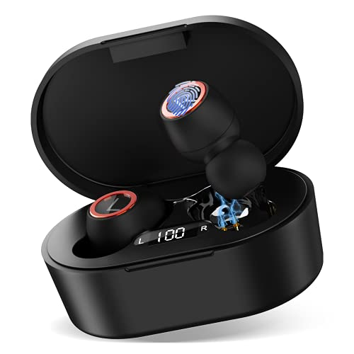 UX923 Wireless Earbuds Bluetooth 5.0 Sport Headphones Premium Sound Quality Charging Case Digital LED Display Earphones Built-in Mic Headset for Lenovo A6010 Plus
