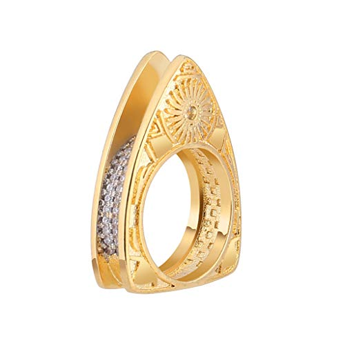 Afdiscount Clearance , Unique Design Metal Geometric Square Zircon Female Ring Jewelry Gift