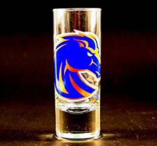 NCAA Licensed Cordial Logo Hype Glass Shot Glass (2 Oz.) School Logo on 2 Oz. Glass Shot Glass (Boise State Broncos)