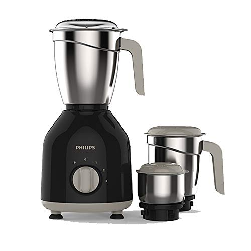 Philips HL7756/00 Mixer Grinder, 750W, 3 Jars (Black)