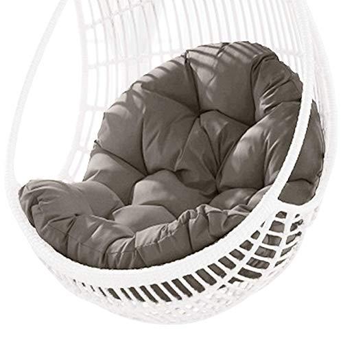 Cojín del asiento de la cesta colgante del columpio, cojines de la silla de la hamaca del huevo colgante grueso, cojín impermeable del asiento de la silla para el jardín del patio (cojín solamente)