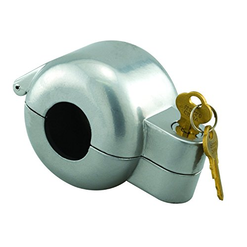 Defender Security Door Knob Lock-Out Device, Diecast Construction, Gray Painted Color, Keyed Alike