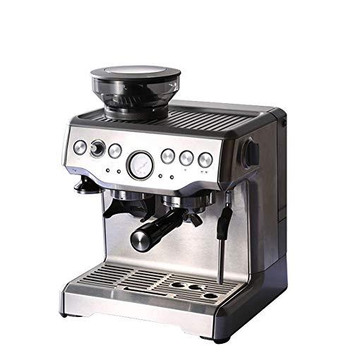 YYAI-HHJU Máquina De Café Hebry con Espumador De Leche,Cafetera De Grano A Taza Máquina De Espresso Semiautomática Máquina De Espresso Integrada En El Hogar