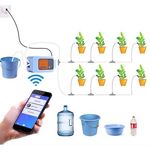 wenhe - Controlador de riego automático, mando a distancia wifi, temporizador de riego automático, bomba de agua para plantas, jardines, kits de riego, gota de gota