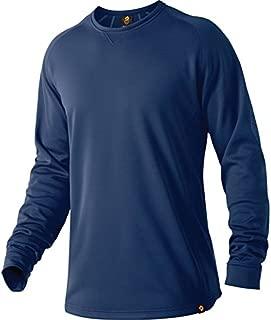 Men's Heater Fleece Top Pullover Navy 3XL