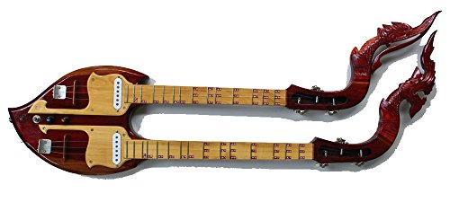 Isarn Electric Phin 3 Strings, Thai Lao Guitar Musical Instrument, Traditional Thai Musical Pin 11