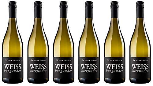 6x Markus Schneider Weißburgunder trocken 2019 - Weingut Markus Schneider, Pfalz - Weißwein