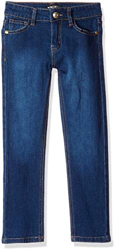 XOXO Girls' Big Stretch Skinny Jean, Dark wash Rhinestone, 16