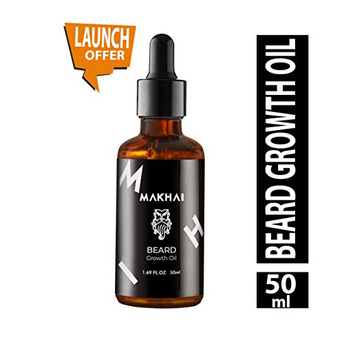 Makhai Premium Beard Oil For Beard Hair Growth and Moustache for Men with 21 Vital ingredients and Essential Oils | Grow Thick and Fuller Beard - 50 ml