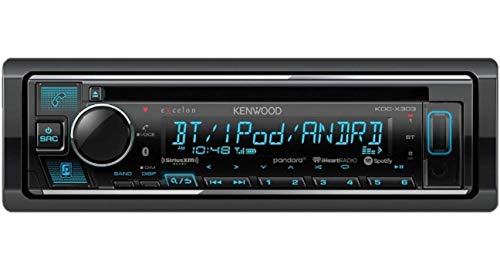 Kenwood Excelon KDC-X303 CD Receiver with Bluetooth (Renewed)